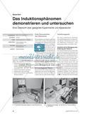 Das Induktionsphänomen demonstrieren und untersuchen - Eine Übersicht über geeignete Experimente und Apparaturen Preview 1