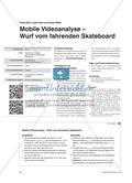 Mobile Videoanalyse – Wurf vom fahrenden Skateboard Preview 1
