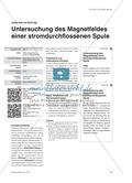 Untersuchung des Magnetfeldes einer stromdurchflossenen Spule Preview 1
