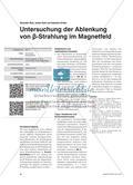 Untersuchung der Ablenkung von β-Strahlung im Magnetfeld Preview 1