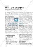 Wellenoptik unterrichten - Didaktische und methodische Anregungen Preview 1