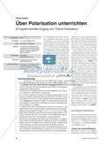 Über Polarisation unterrichten - Ein experimenteller Zugang zum Thema Polarisation Preview 1