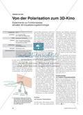 Von der Polarisation zum 3D-Kino - Experimente zur Funktionsweise aktueller 3D-Visualisierungstechnologie Preview 1