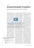 Kundenindividuelle Produktion - Erkundung einer Betriebsproduktion mit Mass Customization Preview 1