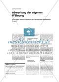 Abwertung der eigenen Währung - Ein probates Mittel zur Steigerung der internationalen Wettbewerbsfähigkeit? Preview 1