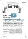 Bitcoin – eine Währungsalternative?: Bitcoin aus der Verbraucherperspektive im Wirtschaftsunterricht Preview 1