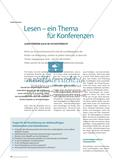 Lesen – ein Thema für Konferenzen: Lesen fördern auch im Fachunterricht Preview 1