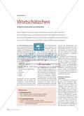 Wortschätzchen - Unterrichtsvorschläge zur Wortbildung Preview 1