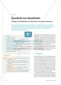 Quadrate aus Quadraten - Einstieg in die Multiplikation großer Zahlen mit Eigenproduktionen Preview 1