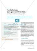 Familie Schleck beim gesunden Frühstück - Beurteilung von mathematischer Gruppenarbeit Preview 1