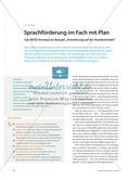 """Sprachförderung im Fach mit Plan - Das WEGE-Konzept am Beispiel """"Orientierung auf der Hundertertafel"""" Preview 1"""