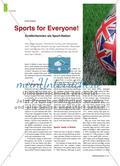Sports for Everyone! - Großbritannien als Sport-Nation Preview 1