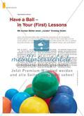 """Have a Ball – in Your (First) Lessons: Mit bunten Bällen einen """"runden"""" Einstieg finden Preview 1"""