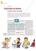 Activities at Home - Wortschatz einführen und festigen Preview 1