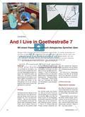 And I Live in Goethestraße 7 - Mit einem Klassen-Adressbuch dialogisches Sprechen üben Preview 1