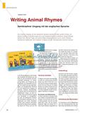 Writing Animal Rhymes - Semikreativer Umgang mit der englischen Sprache Preview 1
