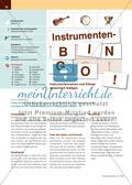 Instrumenten-Bingo! - Instrumentennamen und Klänge spielerisch festigen Preview 1