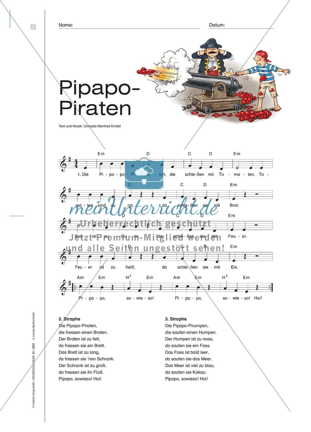 Die Piraten Lied