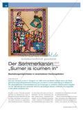 """Der Sommerkanon """"Sumer is icumen in"""" - Bearbeitungsmöglichkeiten in verschiedenen Handlungsfeldern Preview 1"""