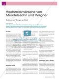 Hochzeitsmärsche von Mendelssohn und Wagner - Musizieren und Bewegen zur Musik Preview 1