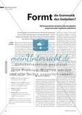 Formt die Grammatik den Gedanken? - Mit kooperativen Verfahren das Verständnis anspruchsvoller Sachtexte erleichtern Preview 1