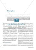 Zeitungstexte und aktuelle Fragestellungen Preview 1