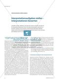 Interpretationsaufgaben stellen – Interpretationen bewerten Preview 1