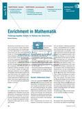 Enrichment in Mathematik - Förderung begabter Schüler im Rahmen des Unterrichts Preview 1