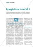Bewegte Pause in der Sek II Preview 1
