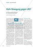 Mehr Bewegung gegen LRS? Preview 1