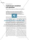 Institutionen verstehen und gestalten - Zur unterrichtlichen Bedeutung und Realisierung des Heftthemas Preview 1