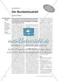"""Der Bundeshaushalt - """"Politik in Zahlen"""" Preview 1"""