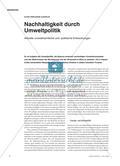 Nachhaltigkeit durch Umweltpolitik: Aktuelle umweltrechtliche und -politische Entwicklungen Preview 1