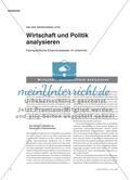 Wirtschaft und Politk analysieren - Fachspezifische Erkenntnisweisen im Unterricht Preview 1