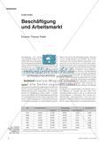 Beschäftigung und Arbeitsmarkt - Empirie, Theorie, Politik Preview 1