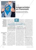 Anlegerverhalten am Finanzmarkt - Erkenntnisse der experimentellen Wirtschaftsforschung im Unterricht Preview 1