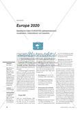 Europa 2020 - Statistische Daten EUROSTATs selbstentdeckend visualisieren, interpretieren und bewerten Preview 1