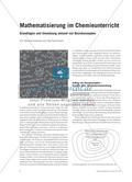 Mathematisierung im Chemieunterricht - Grundlagen und Umsetzung anhand von Basiskonzepten Preview 1