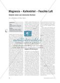 Magnesia – Kalkmörtel – Feuchte Luft: Kontexte nutzen zum chemischen Rechnen Preview 1
