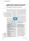"""""""Jeder hat seinen Everest"""" - Psychologisches Training im Schulsport Preview 1"""