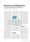 Bausteine und Stoffportionen - Erste quantitative Betrachtungen chemischer Reaktionen Preview 1