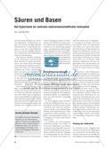 Säuren und Basen - Das Experiment als zentrales naturwissenschaftliches Instrument Preview 1