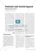Teebeutel statt Soxhlet-Apparat - Funktionsprinzipien erkennen Preview 1