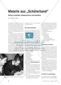 """Metalle aus """"Schülerhand"""" - Wissen erarbeiten, kommunizieren und darstellen Preview 1"""