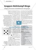 Gruppen-Mehrkampf-Bingo - Schulung elementarer leichtathletischer Bewegungen Preview 1