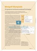 Minigolf-Olympiade - Ein olympischer Kombinationswettkampf für Minigolfer Preview 1