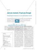 Just one moment, I'll put you through - Fremdsprachliche Kompetenzen am Lernort Berufspraktikum erwerben Preview 1