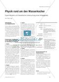 Physik rund um den Wasserkocher - Experimentelle und theoretische Untersuchung eines Alltagsgeräts Preview 1