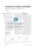 Transistoren als Schalter und Verstärker - Elektronische Schaltungen mit Bipolartransistoren Preview 1