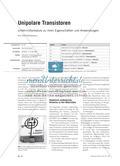 Unipolare Transistoren - Unterrichtsmodule zu ihren Eigenschaften und Anwendungen Preview 1